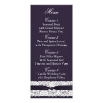 FAUX burlap lace, rustic wedding menu cards