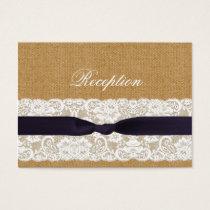 FAUX burlap lace, rustic wedding reception invite