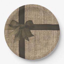 Charming Burlap Paper Plates Ideas - Best Image Engine - tofale.com