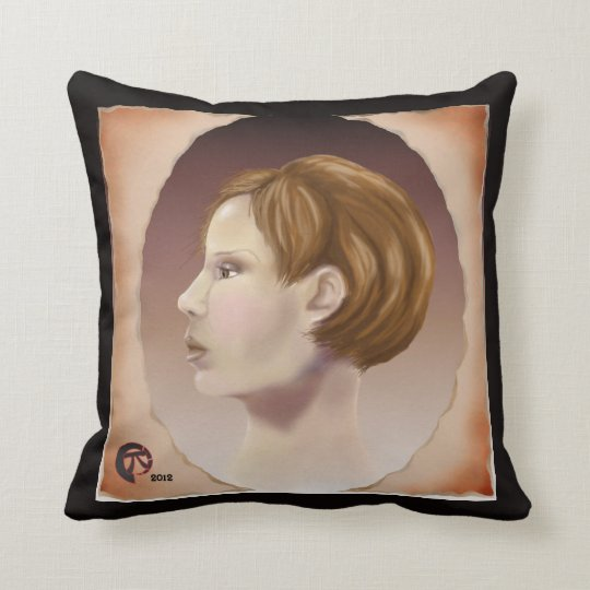 Faux Cameo Throw Pillow