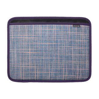 Faux canvas Denim checkers Macbook Air Sleeve