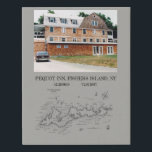 "FAUX canvas print<br><div class=""desc"">The pequot Inn on Fishers Island,  NY</div>"