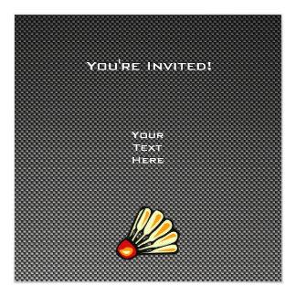 Faux Carbon Fiber Badminton Card