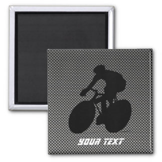 Faux Carbon Fiber Cycling 2 Inch Square Magnet