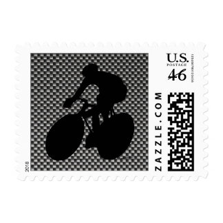 Faux Carbon Fiber Cycling Stamps