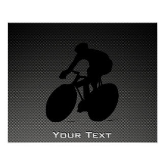 Faux Carbon Fiber Cycling Poster