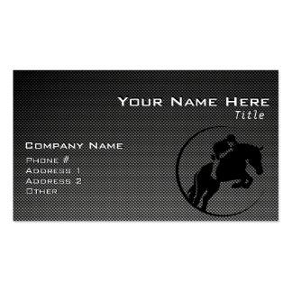 Faux Carbon Fiber Equestrian Business Card