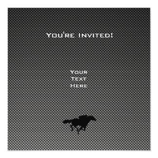 Faux Carbon Fiber Equestrian Card