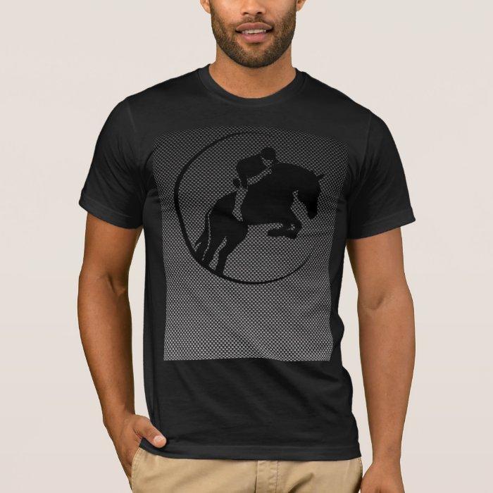 Faux Carbon Fiber Equestrian T-Shirt