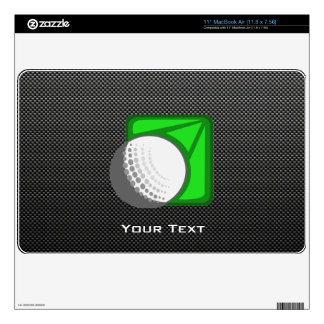 Faux Carbon Fiber Golf Ball MacBook Decals
