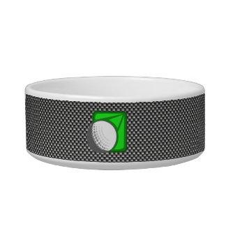Faux Carbon Fiber Golf Ball Pet Food Bowls