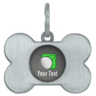 Faux Carbon Fiber Golf Ball Pet Name Tags