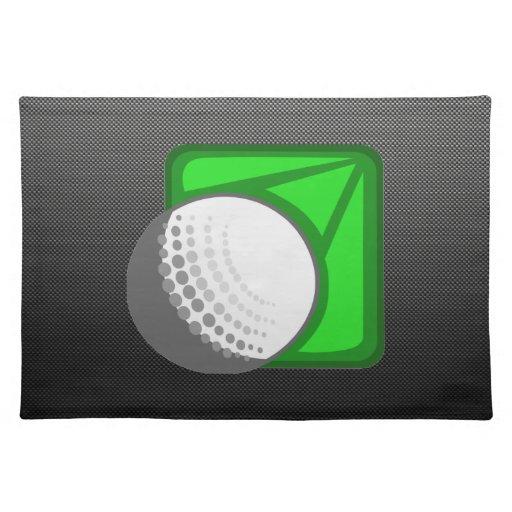Faux Carbon Fiber Golf Ball Placemats