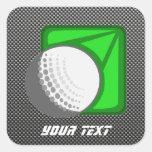 Faux Carbon Fiber Golf Ball Square Sticker