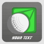 Faux Carbon Fiber Golf Ball Stickers