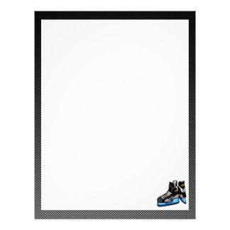 Faux Carbon Fiber Hockey Skates Letterhead