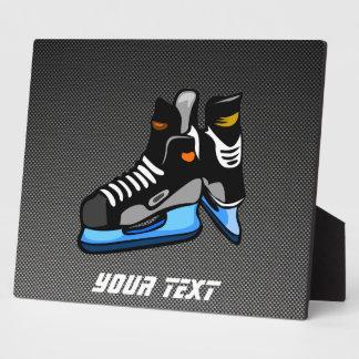 Faux Carbon Fiber Hockey Skates Plaque