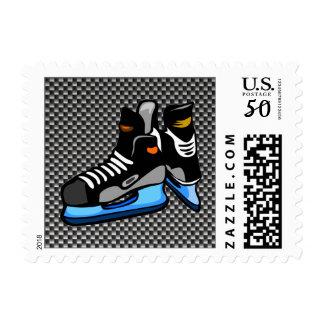 Faux Carbon Fiber Hockey Skates Postage