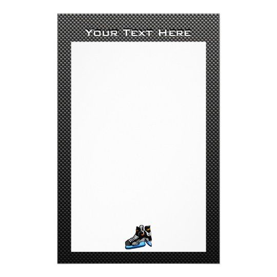 Faux Carbon Fiber Hockey Skates Stationery