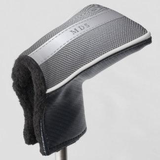 Faux Carbon Fiber Monogram Golf Putter Head Cover