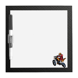 Faux Carbon Fiber Motocross Dry-Erase Board