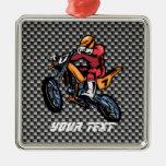 Faux Carbon Fiber Motocross Ornaments