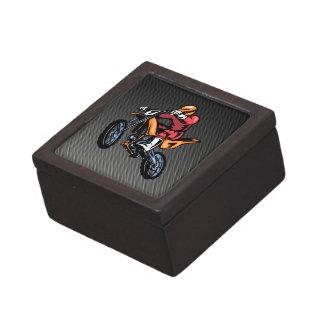 Faux Carbon Fiber Motocross Premium Jewelry Boxes