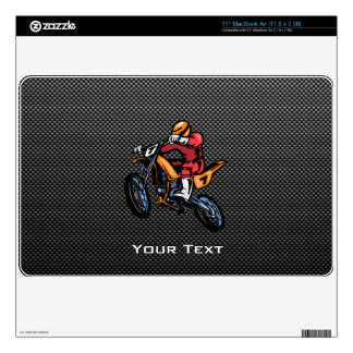 Faux Carbon Fiber Motocross Skin For The MacBook Air