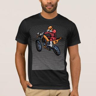 Faux Carbon Fiber Motocross T-Shirt