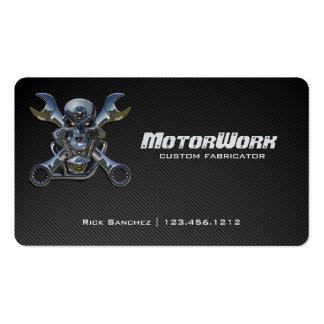 Faux Carbon Fiber Motorcycle Business Card