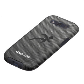 Faux Carbon Fiber Running Samsung Galaxy SIII Cover