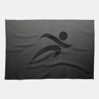 Faux Carbon Fiber; Running Hand Towel