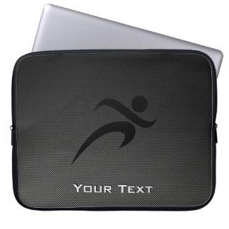 Faux Carbon Fiber; Running Laptop Sleeve