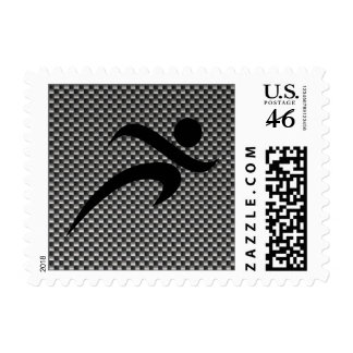 Faux Carbon Fiber Running Stamps