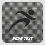 Faux Carbon Fiber; Running Stickers