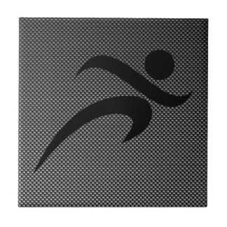 Faux Carbon Fiber; Running Ceramic Tile