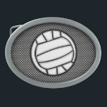 "Faux Carbon Fiber Volleyball Belt Buckle<br><div class=""desc"">You will love this cool black carbon fiber volleyball player girl design. Great for gifts! Available on tee shirts, smart phone cases, mousepads, keychains, posters, cards, electronic covers, computer laptop / notebook sleeves, caps, mugs, and more! Visit our site for a custom gift case for Samsung Galaxy S3, iphone 5,...</div>"