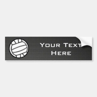 Faux Carbon Fiber Volleyball Bumper Stickers