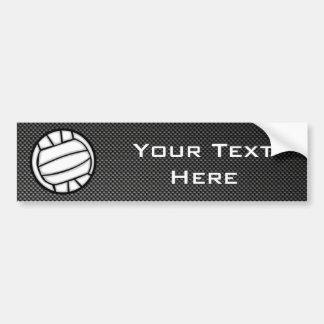 Faux Carbon Fiber Volleyball Car Bumper Sticker