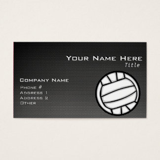 Faux Carbon Fiber Volleyball Business Card