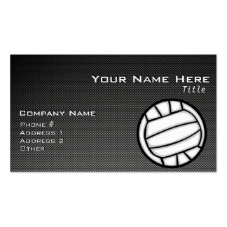 Faux Carbon Fiber Volleyball Business Card Templates