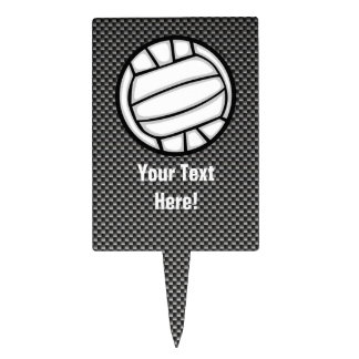 Faux Carbon Fiber Volleyball Cake Picks