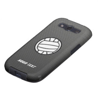 Faux Carbon Fiber Volleyball Galaxy S3 Covers