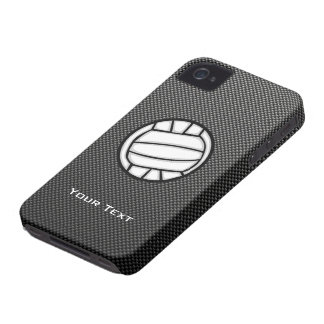 Faux Carbon Fiber Volleyball iPhone 4 Covers