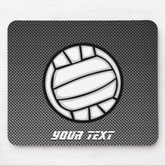 Faux Carbon Fiber Volleyball Mouse Pad