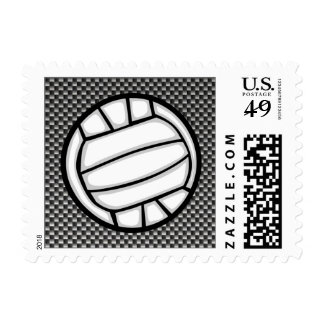 Faux Carbon Fiber Volleyball Stamps