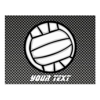 Faux Carbon Fiber Volleyball Postcard