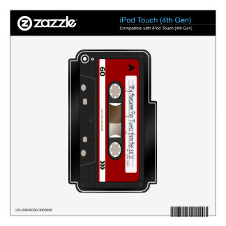 Faux Cassette Red Label iPod Touch Skin 4