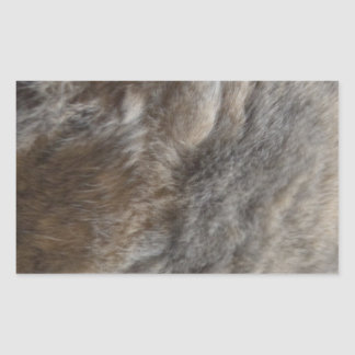 Faux Cat Fur look Rectangular Sticker