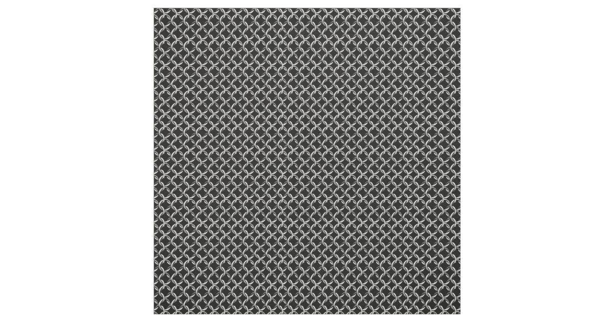 Faux Chainmail Black And Gray Mesh Look Fabric Zazzle Com